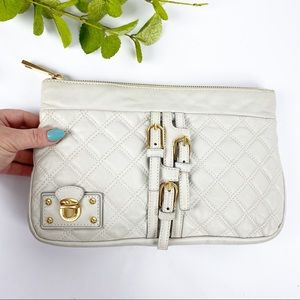 Marc Jacobs Leather Quilted Clutch Belt Buckle